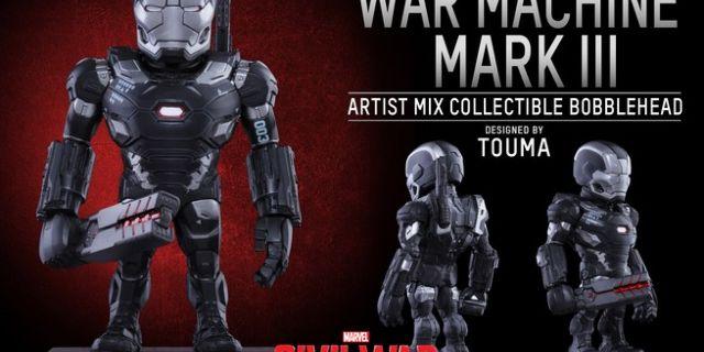Hot Toys - CACW - War Machine Mark III Artist Mix Collectible BobbleHead_PR2