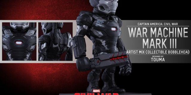 Hot Toys - CACW - War Machine Mark III Artist Mix Collectible BobbleHead_PR3