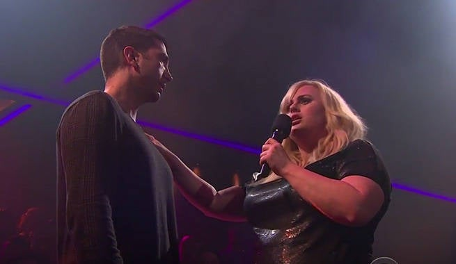 Rebel Wilson Roasts David Schwimmer And James Corden With Epic Rap