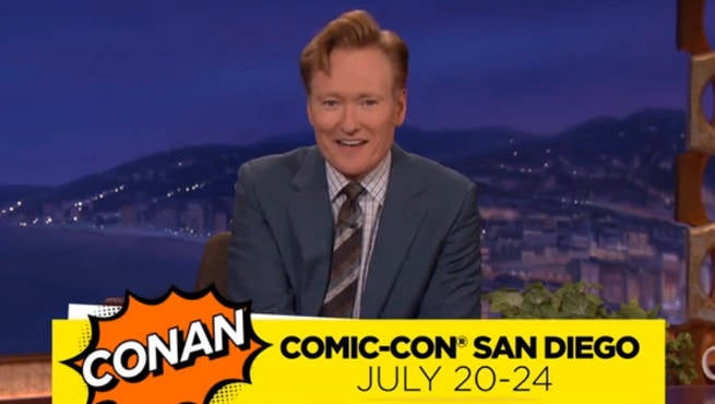 Conan O'Brien Announces Comic-Con Shows Include Suicide Squad Cast