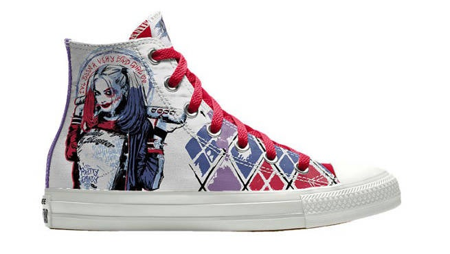 f4718998c26f3f Customized Suicide Squad Converse Kicks Available From Nike