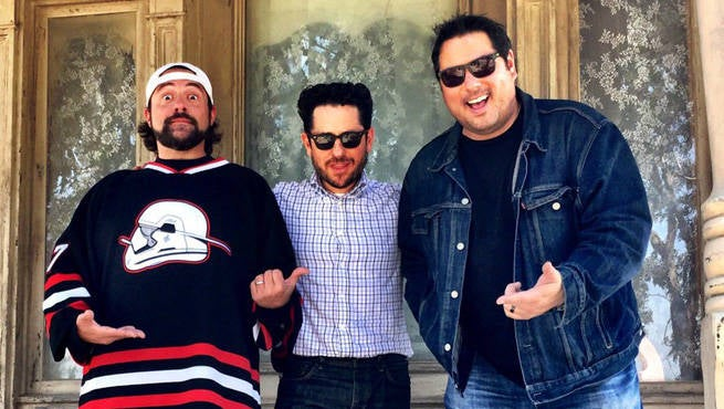 J.J. Abrams Surprises Kevin Smith And Greg Grunberg With His New Wolverine Look
