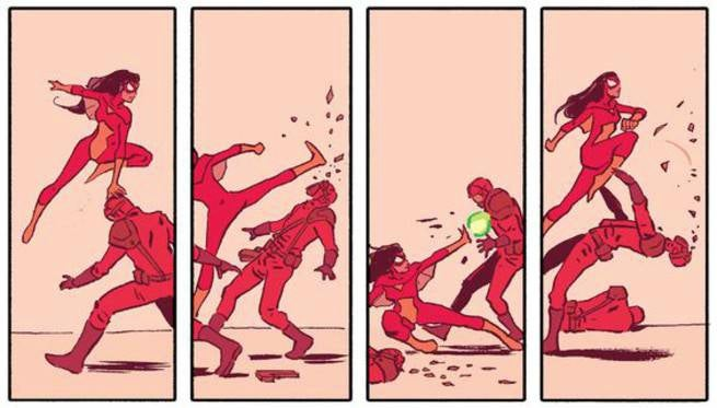 Michael Walsh Spider-Woman Action