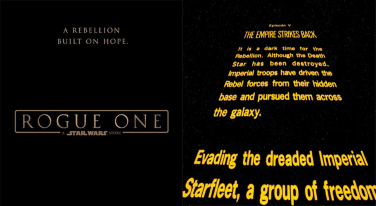 Star Wars' Opening Crawl Creator Says Rogue One Is Foolish For Not