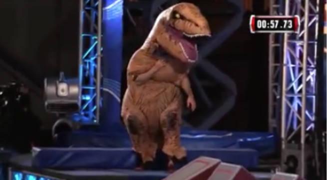 WATCH: T-Rex Takes On American Ninja Warrior