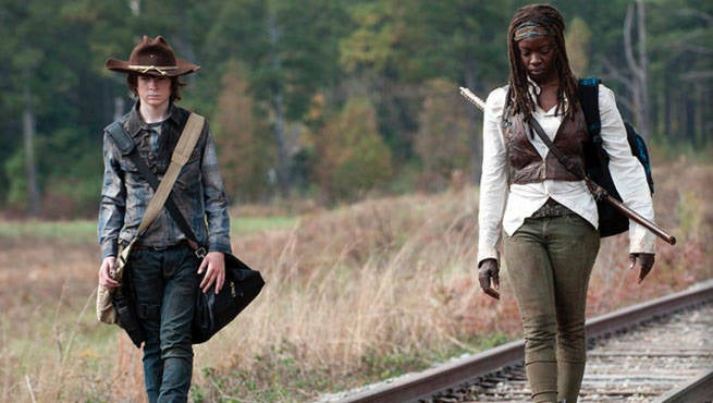 Walking Dead Michonne Carl