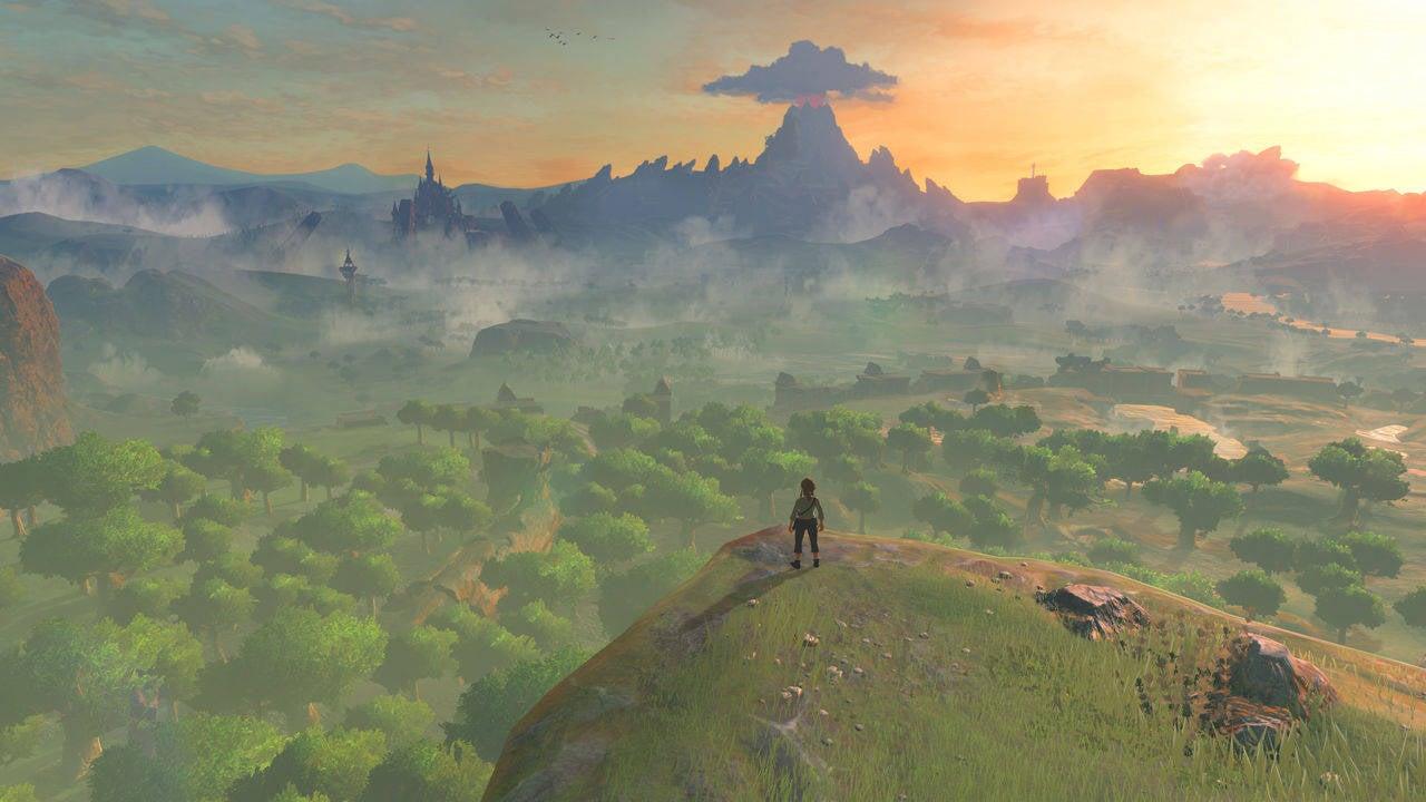 Zelda: Breath Of The Wild Player Flies Into A Dragon Portal