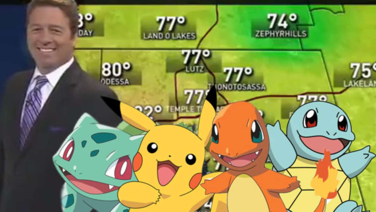 Pokemon GO Disrupts Live Weather Report