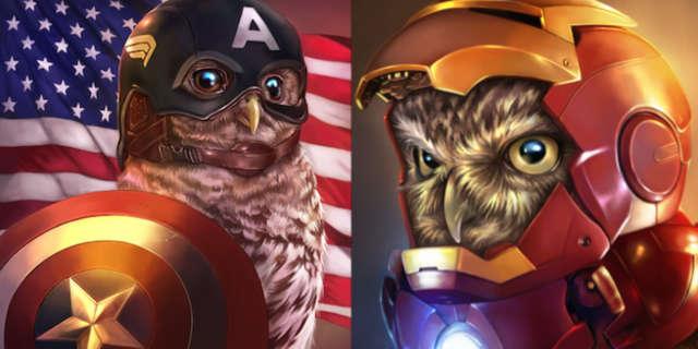 owl-avengers-fan-art