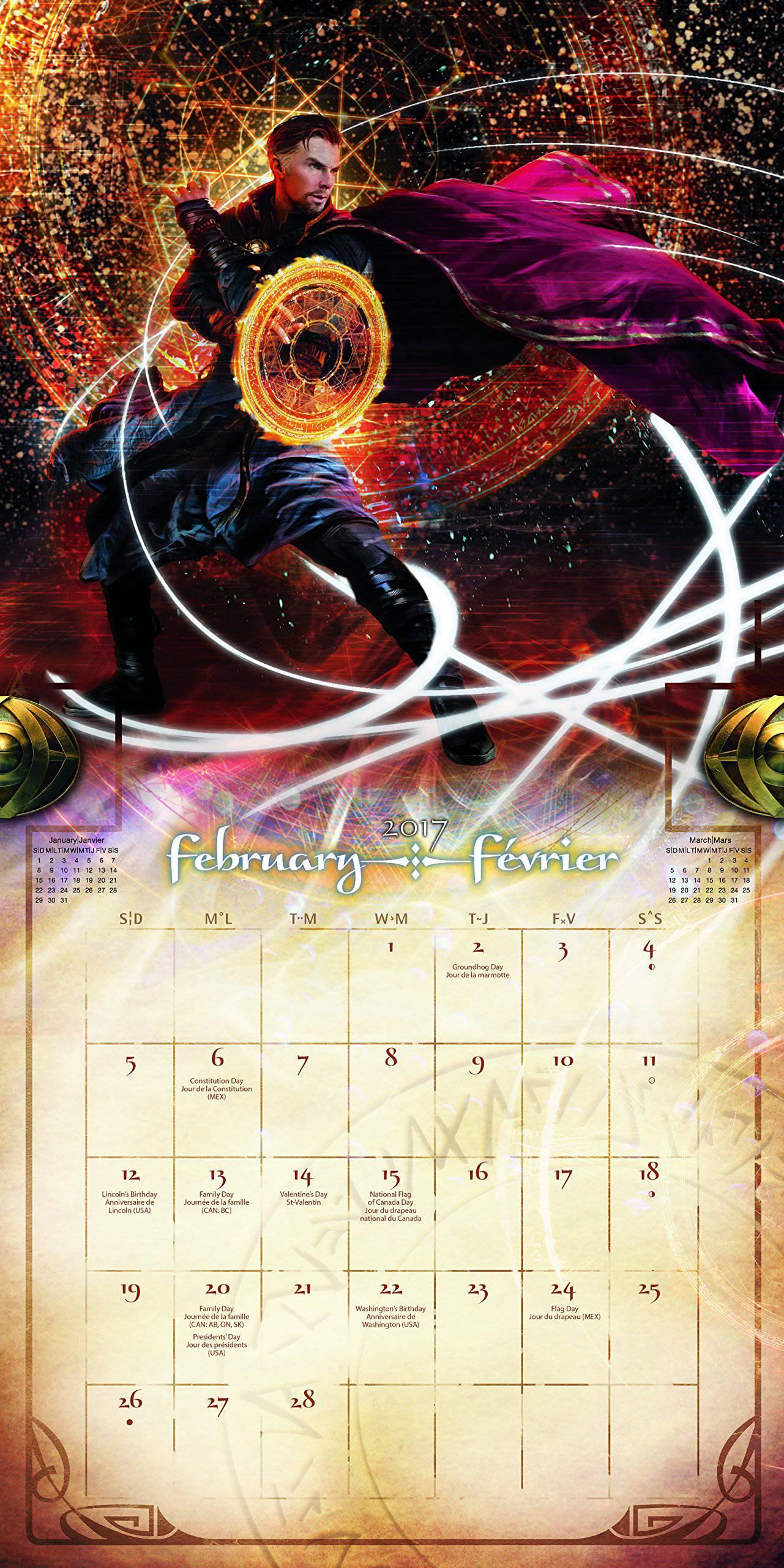 strange calendar page