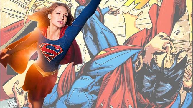 supergirl punching superman