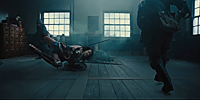 Wonder Woman Trailer Screenshots - Shield Attack Scene