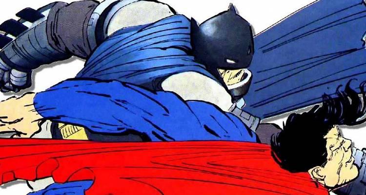 Batman vs Superman in Dark Knight Returns Comic