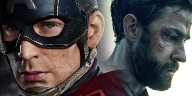 """John Krasinski Blames Chris Evans for """"Robbing Him"""" of Captain America Role"""