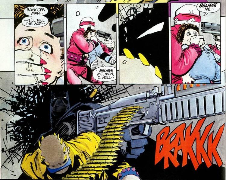 Dark Knight Returns Batman Kills Machine Gun