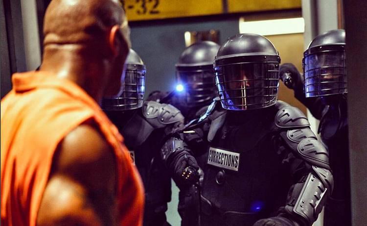 Dwayne The Rock Johnson Fast 8 Prison Scene