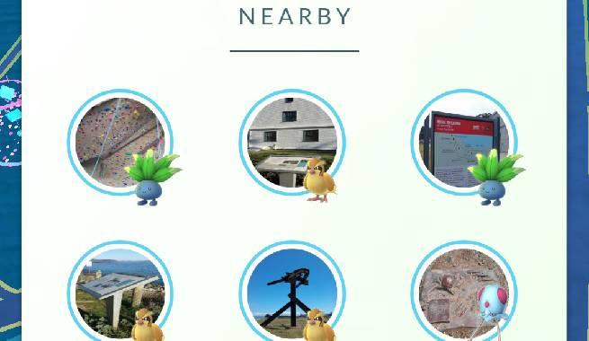 nearby pokemon go