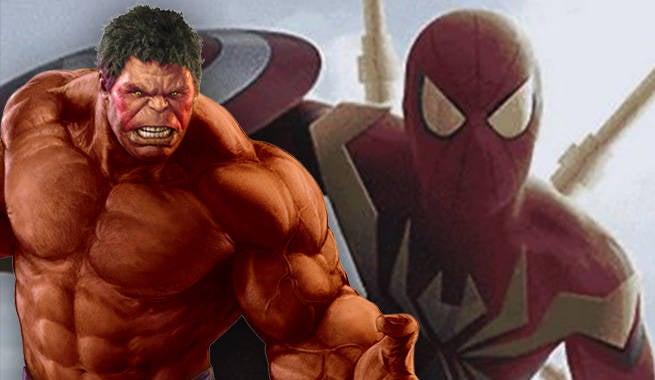 Red Hulk Iron Spider