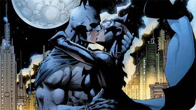 batman kissing catwoman