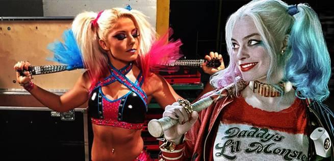 WWE's Alexa Bliss Cosplays As Harley Quinn At Backlash