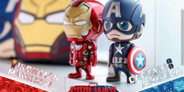 Hot Toys - CA CW - Captain America & Iron Man Mark XLVI Cosbaby Bobble-Head_PR5