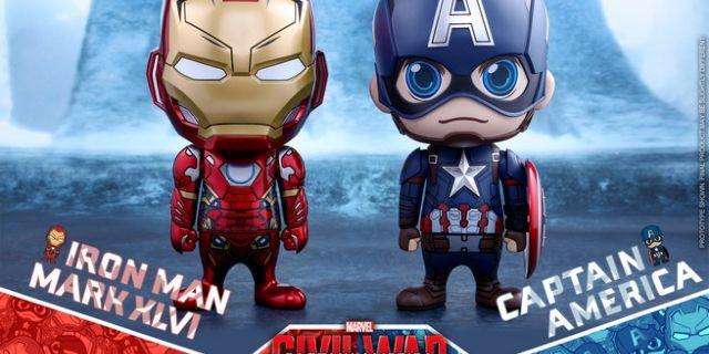 Hot Toys - CA CW - Captain America & Iron Man Mark XLVI Cosbaby Bobble-Head_PR1