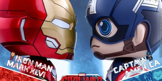 Hot Toys - CA CW - Captain America & Iron Man Mark XLVI Cosbaby Bobble-Head_PR3