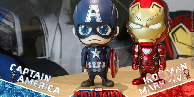 Hot Toys - CA CW - Captain America & Iron Man Mark XLVI Cosbaby Bobble-Head_PR4