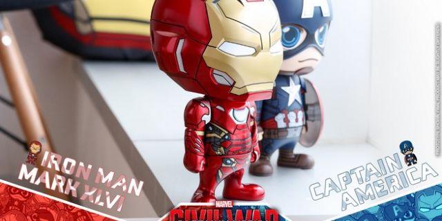Hot Toys - CA CW - Captain America & Iron Man Mark XLVI Cosbaby Bobble-Head_PR6