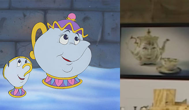 Your First Look At Mrs Potts And Chip In Beauty And The