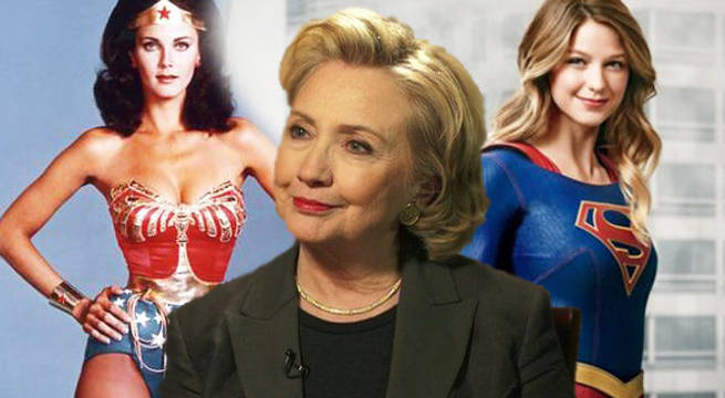 supergirl hillary clinton