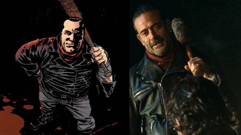 Walking Dead Negan Comic TV Show comparison