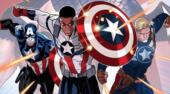Captain America Bucky Sam Wilson Falcon Header