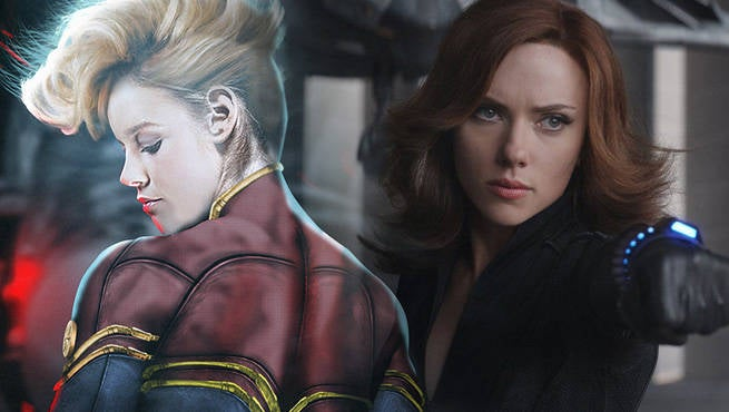 Captain Marvel Black Widow