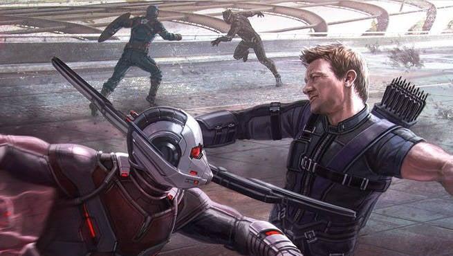 Civil War Ant Man v Hawkeye