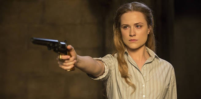 Evan Rachel Wood as Dolores Abernathy - credit John P Johnson HBO