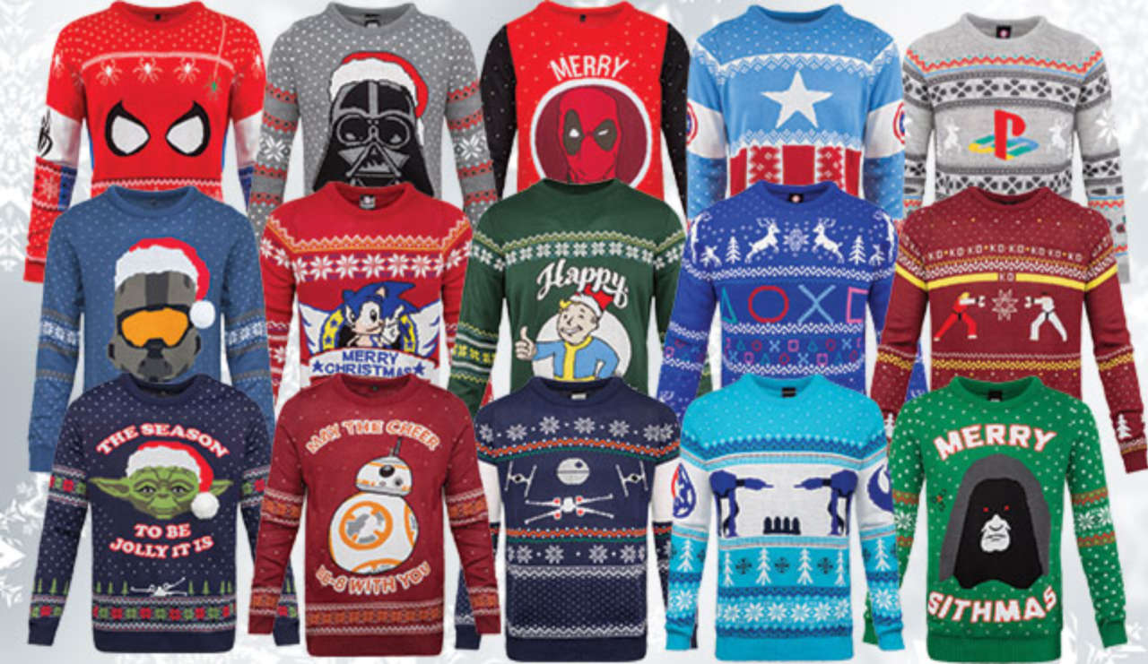 Merchoid Reveals Their Full Lineup Of Geeky Christmas Sweaters