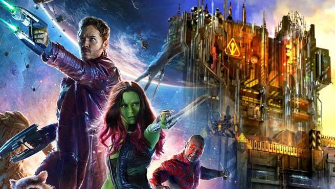 Guardians Galaxy Theme Ride