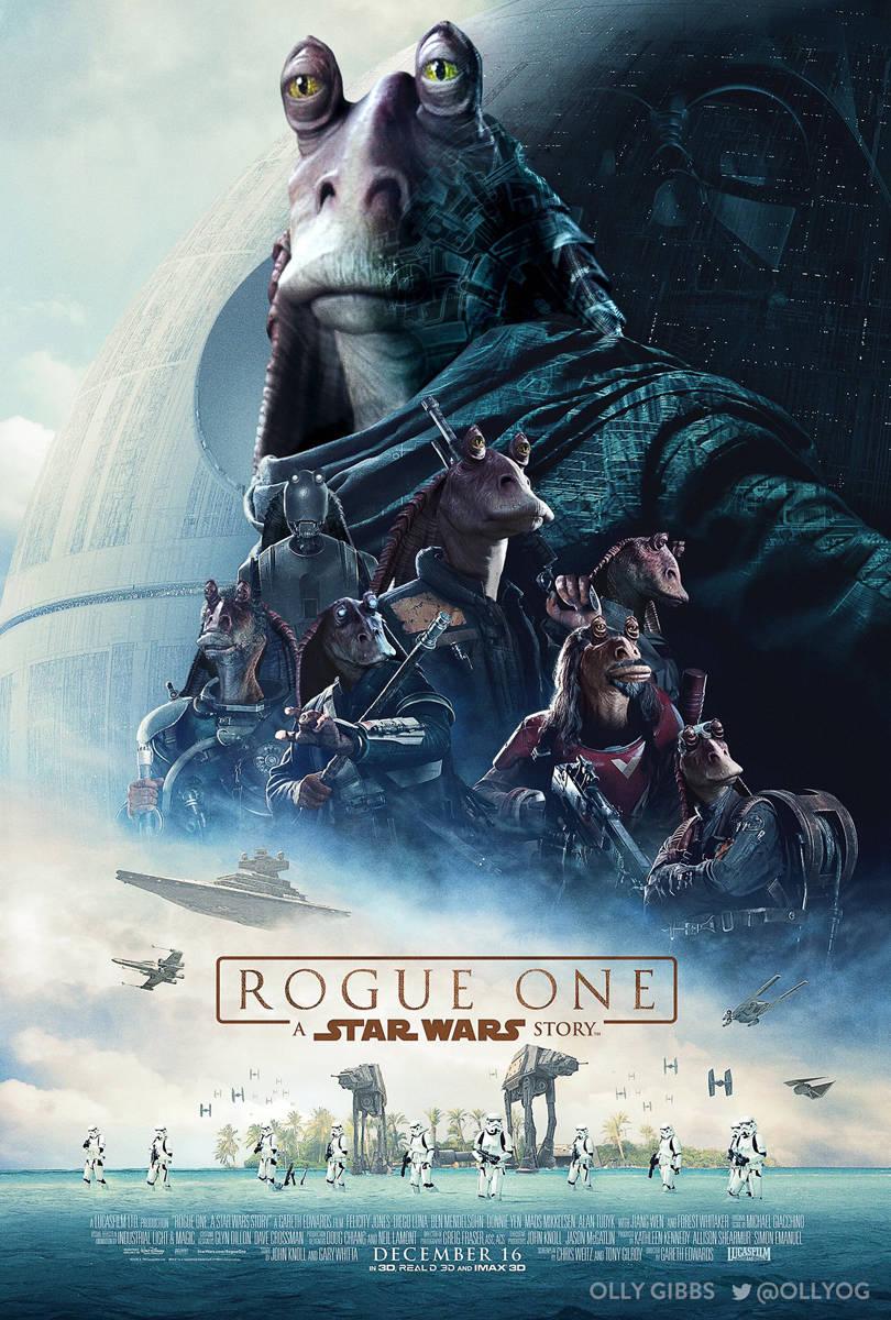 Jar Jar Binks Rogue One A Star Wars Story Poster