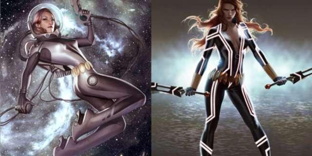 Avengers Infinity War Costumes - Black Widow Space Fear Itself