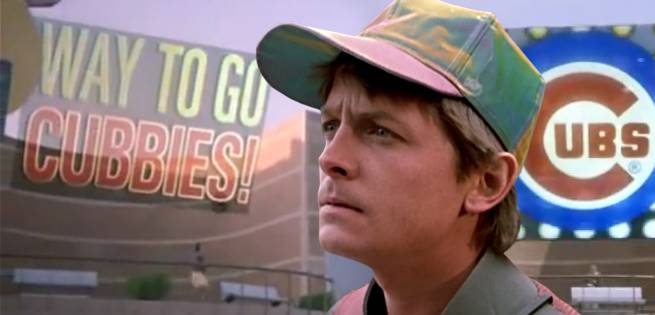 Back To The Future's Michael J. Fox Congratulates The Chicago Cubs