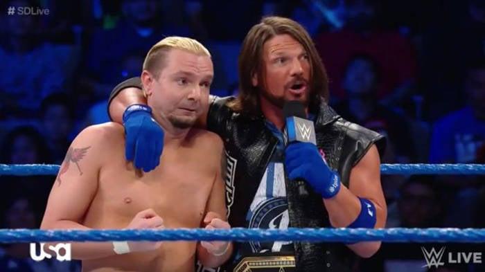 James Ellsworth & AJ Styles