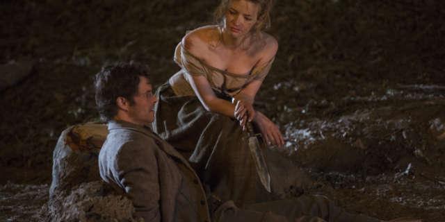 James Marsden as Teddy and Talulah Riley as Angela- credit John P Johnson HBO