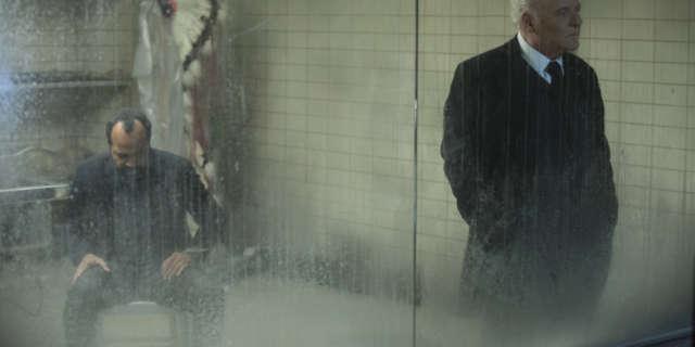 Jeffrey Wright as Bernard and Anthony Hopkins as Dr Robert Ford- credit John P Johnson HBO