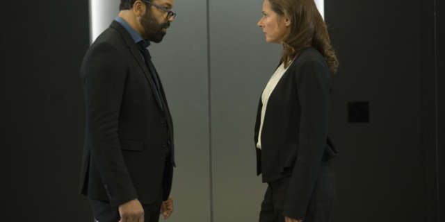Jeffrey Wright as Bernard Lowe, Sidse Babett Knudsen as Theresa Cullen -