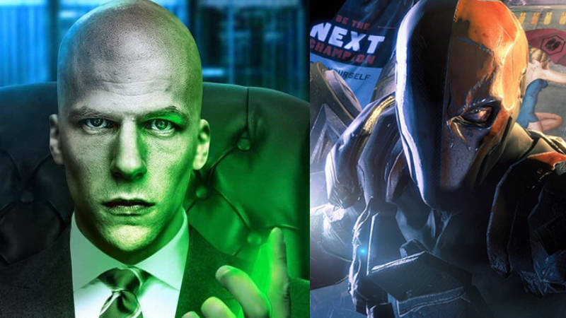 Justice League Deathstroke and Lex Luthor