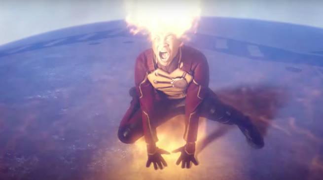 Legends of Tomorrow Invasion Crossover - Firestorm vs Alien Spaceship Weapon