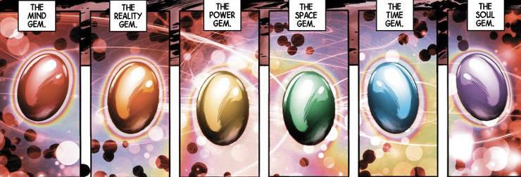 Marvel Comics Infinity Gems