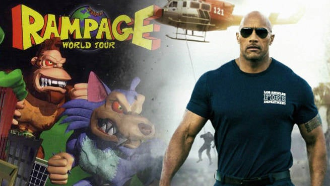 The Rock's Rampage Movie Gets A Working Title