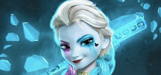 This Frozen/Harley Quinn Mash-Up Is A Sight To Behold